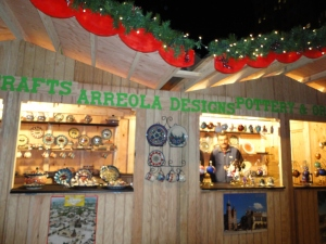 Well-crafted Christmas booth, one of many