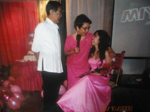 Nanay and Tatay at my 18th birthday (debut) in the Philippines