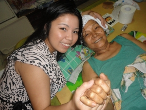 Me with Nanay, one of my last photos with her in November 2011.